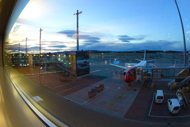 Flugzeug-Nordkalottleden-trekking