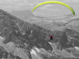 paraglider-berge